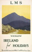 Irish Railway Art Travel Poster, Wicklow, Ireland by Paul Henry